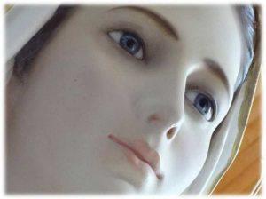 Imagem do rosto de Nossa Senhora Rainha da Paz